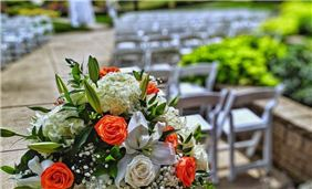 Garden Patio wedding at Oak Brook Hills