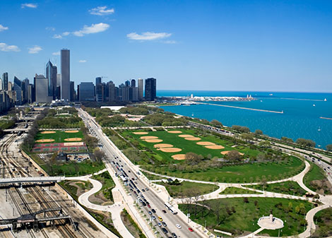 Grant Park at Downtown Chicago