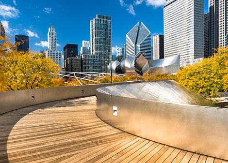 Millennium Park at Downtown Chicago